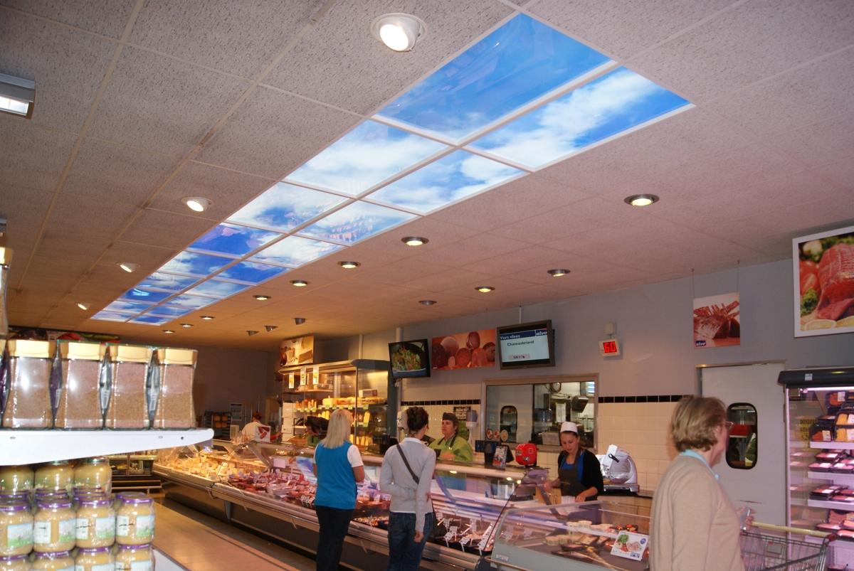Panneaux LED ultrafins commerce