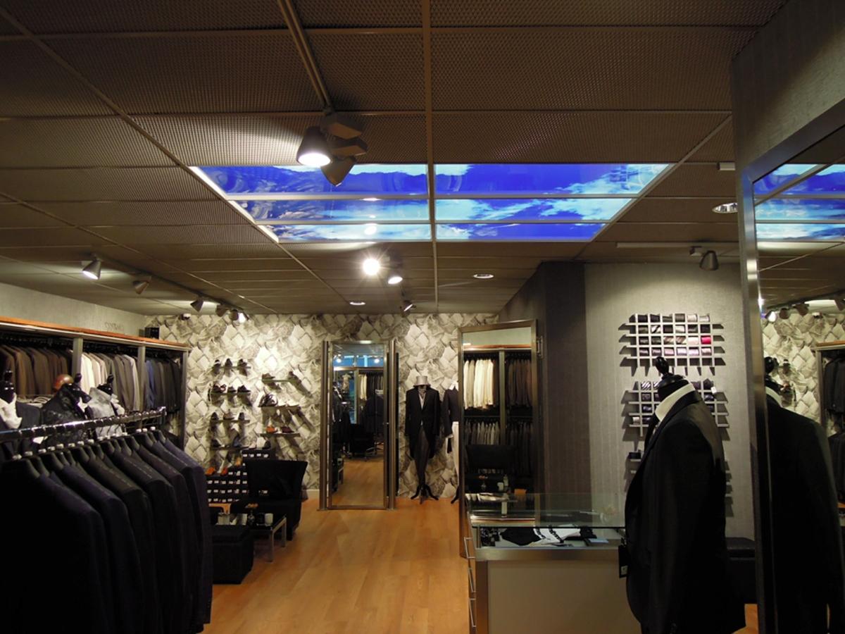 Panneaux LED illusion d'ouverture sur l'extérieur