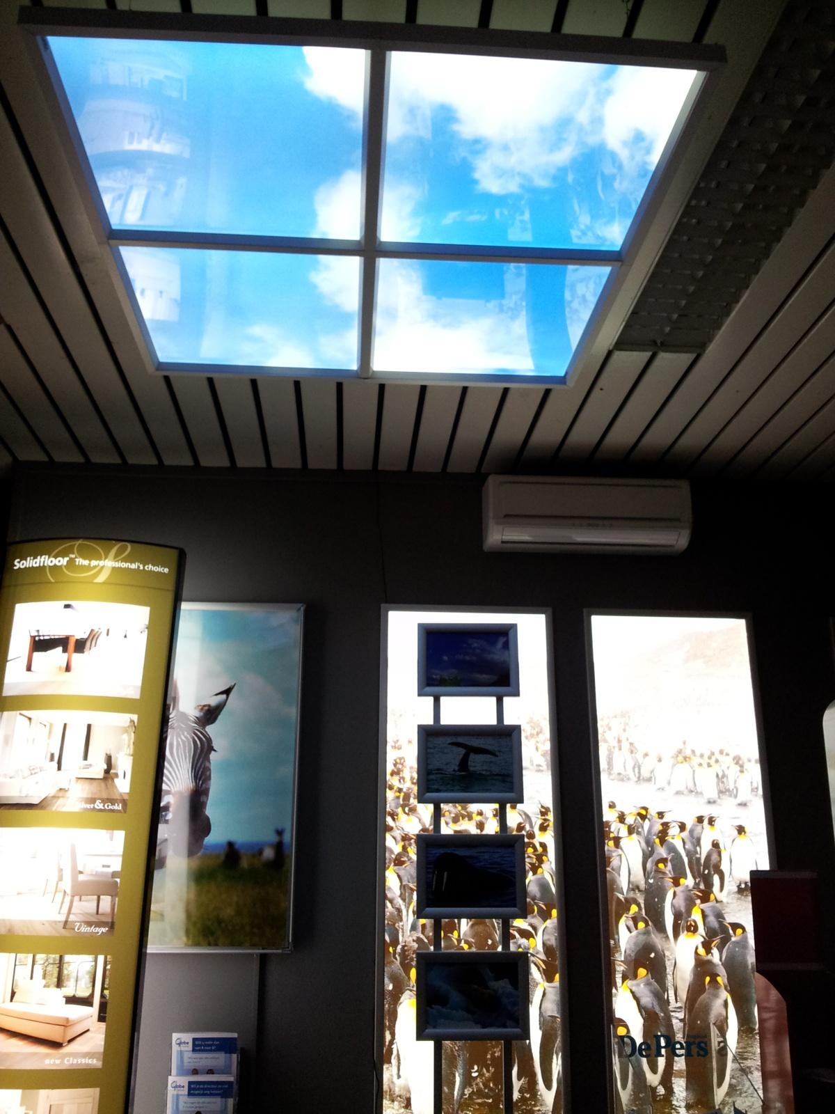 Panneaux LED lumineux espace d'accueil
